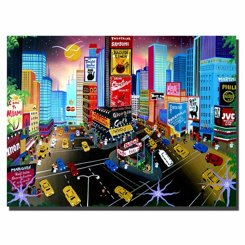 "Trademark Fine Art ""Times Square"" by Herbet Hofe Painting Print on Canvas"