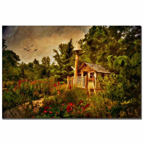 "Trademark Fine Art ""The Shire"" by Lois Bryan Painting Print on Canvas"