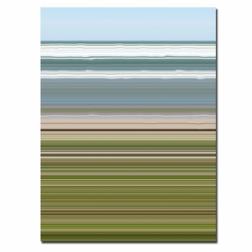 "Trademark Fine Art ""Sky Water Beach Grass"" by Michelle Calkins Graphic Art on Canvas"