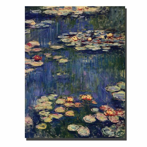 "Trademark Fine Art ""Water Lilies1914"" by Claude Monet Painting Print on Canvas"