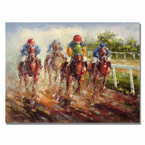 """12 Cool Kentucky Derby Inspired Home Decor Ideas: Trademark Art """"Kentucky Derby"""" By Rio Painting Print On"""