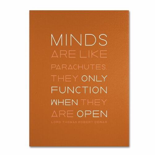 'An Open Mind II' by Megan Romo Textual Art on Canvas