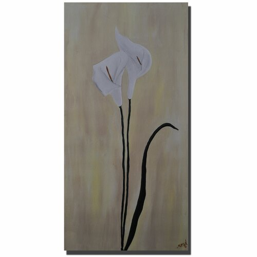 "Trademark Fine Art ""Calla Pair"" by Nicole Dietz Painting Print on Canvas"