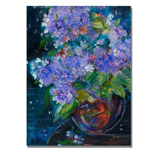 Trademark Fine Art 'Bouquet in Violet' by Sheila Golden Painting Print on Canvas