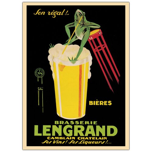 Trademark Fine Art 'Bieres Brasserie Lengrand' by G Piana Vintage Advertisment on Canvas