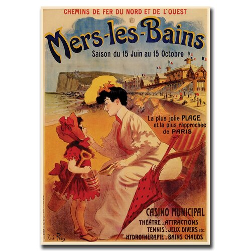 Trademark Fine Art 'Mers les Bains' Vintage Advertisement on Canvas
