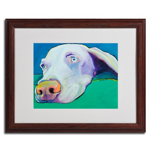 "Trademark Fine Art ""Fritz"" by Pat Saunders Framed Painting Print"