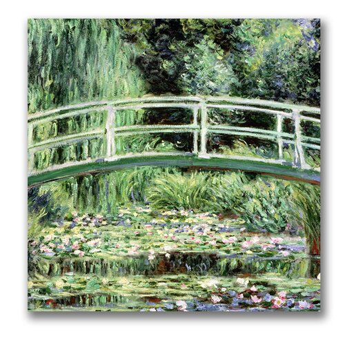 """Trademark Fine Art """"White WaterLillies, 1889"""" by Claude Monet Painting Print on Canvas"""