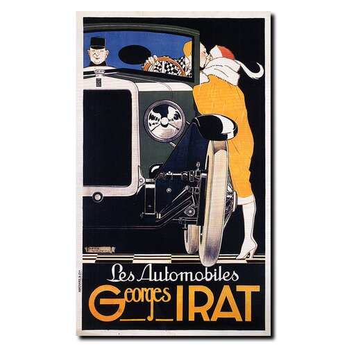 "Trademark Fine Art ""Georges Irat"" by Rene Vincent Vintage Advertisement on Canvas"