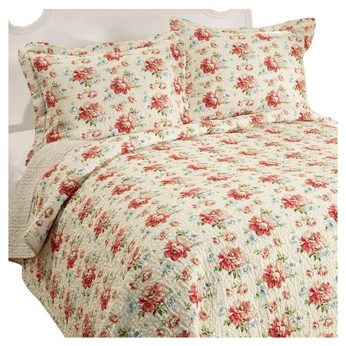 Laura Ashley Home Bramwell Cotton Reversible Quilt Set