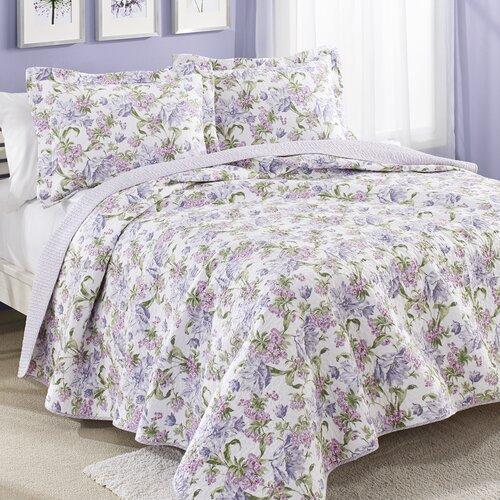 Laura Ashley Home Sherborne Reversible Cotton Quilt Set