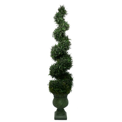 Laura Ashley Home Silk Spiral Topiary in Urn