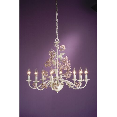 Laura Ashley Home Blossom 8 Light Chandelier