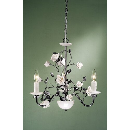 Laura Ashley Home Chantilly 3 Light Chandelier