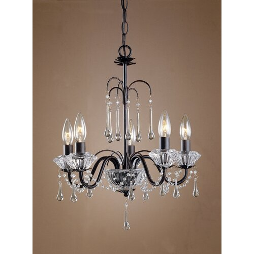 Laura Ashley Home Fountain 5 Light Chandelier