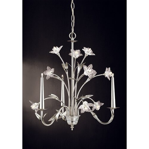 Laura Ashley Home Glass Daffodil 12 Light Mini Chandelier