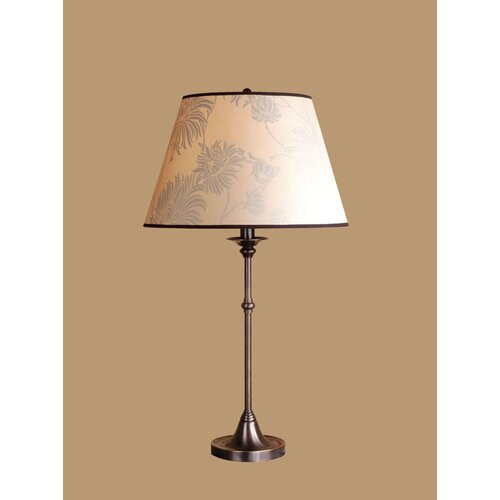 """Laura Ashley Home Morgan 23.13"""" H Table Lamp with Floral Empire Shade"""
