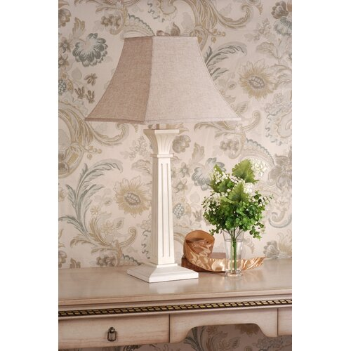 "Laura Ashley Home Ridgewell Complete 32.5"" H Table Lamp with Square Shade"