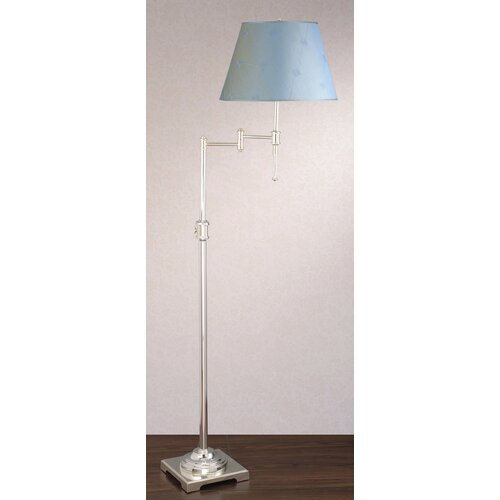 Laura Ashley Home State Street Swing Arm Floor Lamp with Lucille Shade