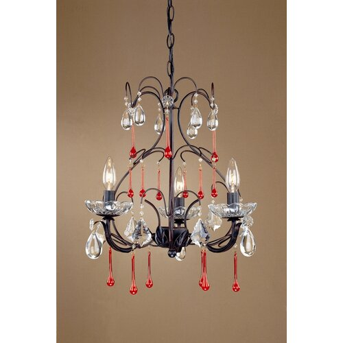 Laura Ashley Home Venetian 3 Light Mini Chandelier