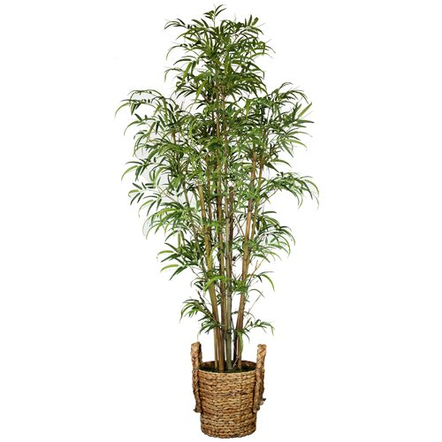 Tall Realistic Silk Bamboo Tree in Basket
