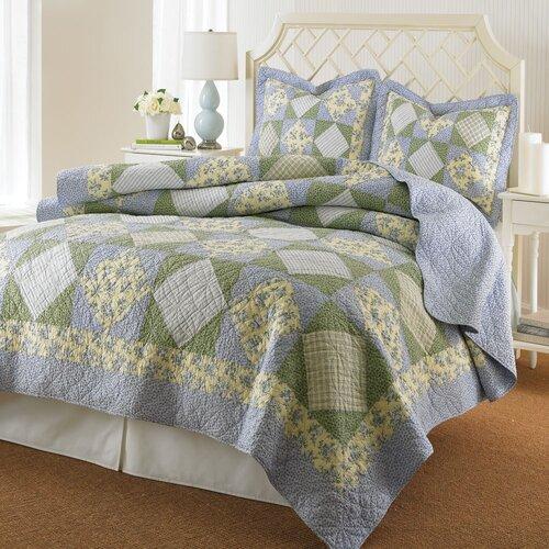 Caroline Cotton Reversible Quilt Set
