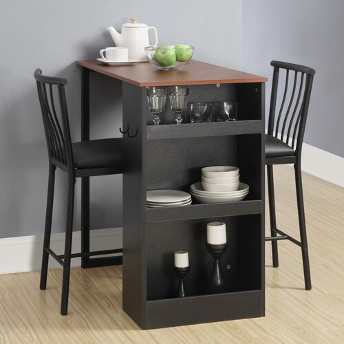 dorel living 3 piece counter height pub table set reviews wayfair