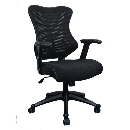 techni mobili mid back mesh office chair with lumbar support