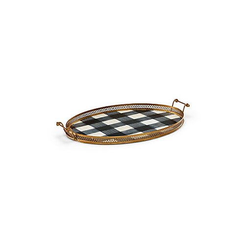 Chelsea House Nettles Oval Serving Tray with Handles