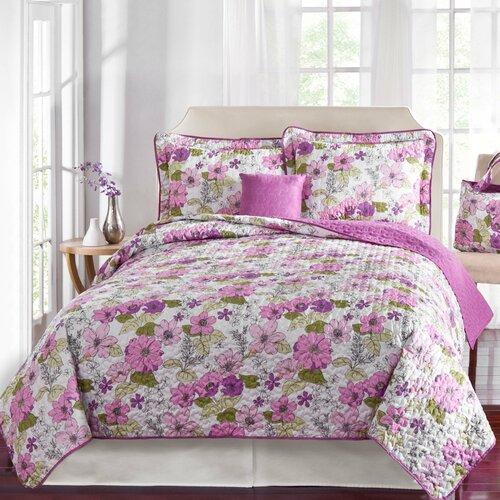 Garden Floral Quilt Set