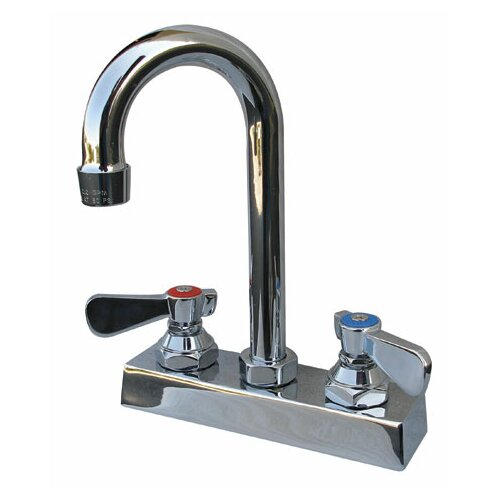 "Advance Tabco Heavy Duty Deck Mount 10.6875"" High Gooseneck Faucet with 4"" Centers"