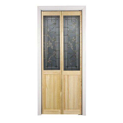 Pinecroft 30 In X 80 In Glass Over Panel Tuscany Wood: LTL Bi-Fold Doors 719 Series Tuscany Bi-Fold Door