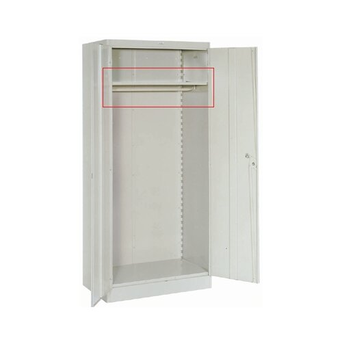 "Lyon Workspace Products Extra Shelf with Coatrod for 36"" W x 18"" D Wardrobe Cabinets"