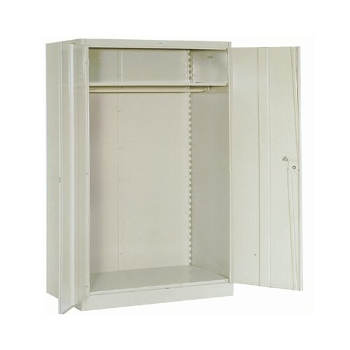 "Lyon Workspace Products 1000 Series 48"" Wide Wardrobe Cabinet:  78"" H x 48"" W x 24"" D"