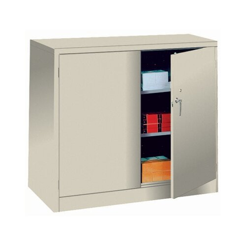 "Lyon Workspace Products 1000 Series 48"" Wide Counter High Cabinet:  42"" H x 48"" W x 24"" D"
