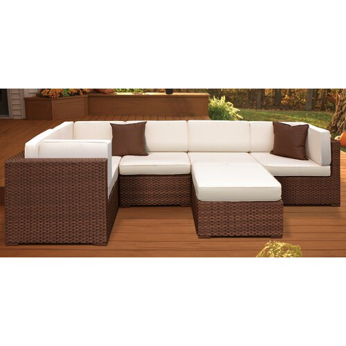 International Home Miami Aventura Outdoor Wicker Deep Seating Group