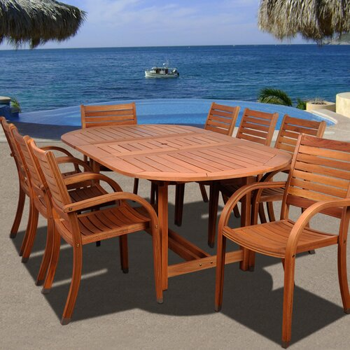 International Home Miami Amazonia Maryland 9 Piece Dining Set