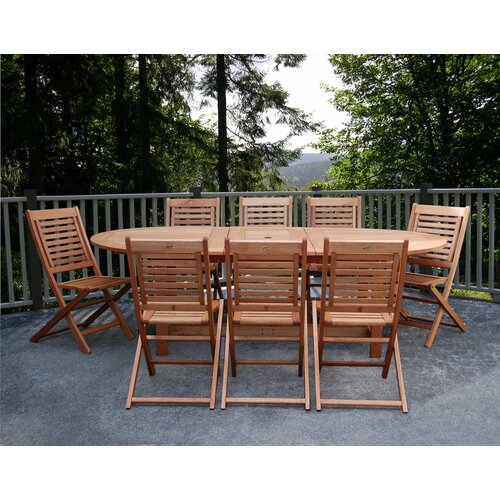 International Home Miami Milano Grand 9 Piece Dining Set