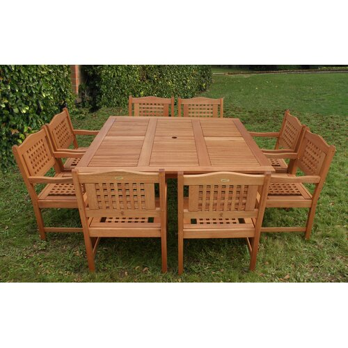 International Home Miami Milano 9 Piece Dining Set