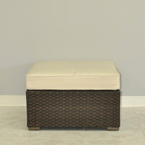 International Home Miami Miami Atlantic Sectional Ottoman with Cushions