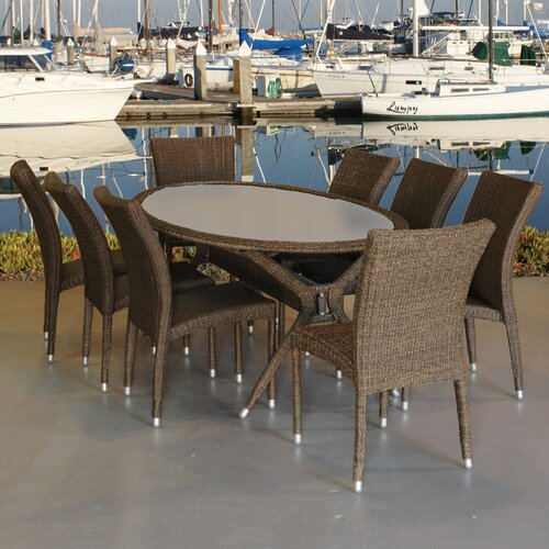 International Home Miami Bari 9 Piece Dining Set