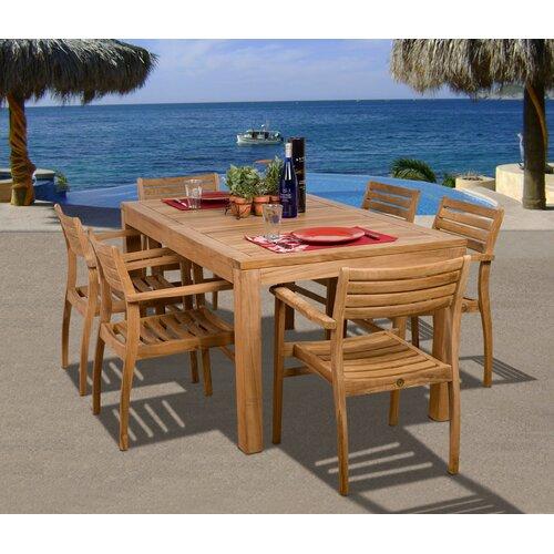 International Home Miami Amazonia Fairmont 7 Piece Dining Set