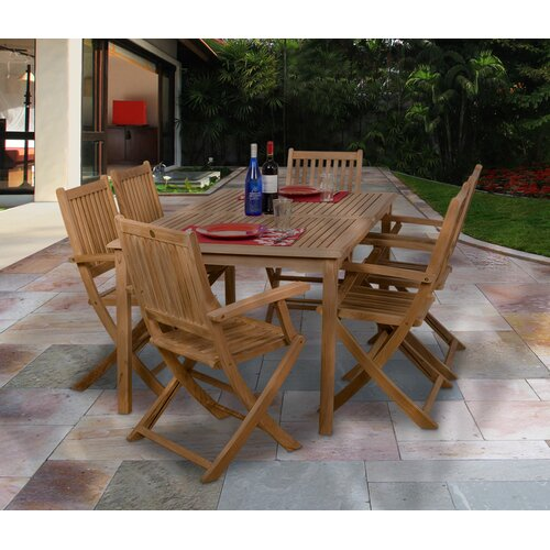 International Home Miami Amazonia Frankfurt 7 Piece Dining Set
