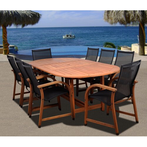 International Home Miami Amazonia Jersey 9 Piece Dining Set