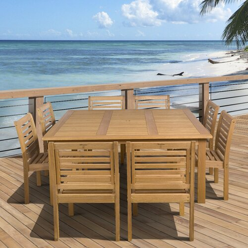 International Home Miami Amazonia 9 Piece Dining Set