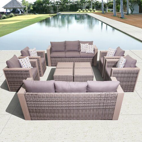 Atlantic Cameron 10 Piece Conversation Set with Cushion