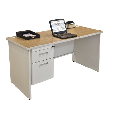 Marvel Office Furniture Pronto Executive Desk with Left Single Pedestal