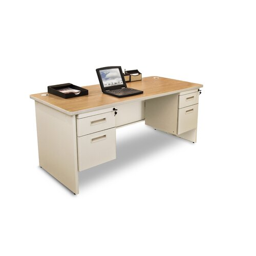 Marvel Office Furniture Pronto Double Pedestal Computer Desk