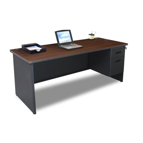"""Marvel Office Furniture Pronto 72"""" Single Pedestal Computer Desk"""