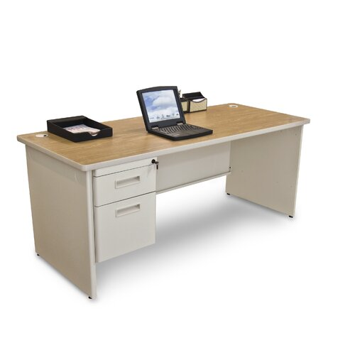 Marvel Office Furniture Pronto Executive Desk with Single Pedestal
